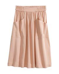 H&M | Pink Knee-length Skirt | Lyst
