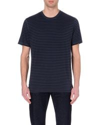 Paul Smith | Blue Striped Cotton T-shirt for Men | Lyst
