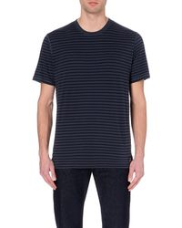 Paul Smith - Blue Striped Cotton T-shirt for Men - Lyst