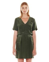 Equipment - Green Oliver Dress - Lyst