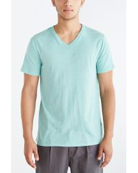 BDG - Blue Standard-fit V-neck Tee for Men - Lyst