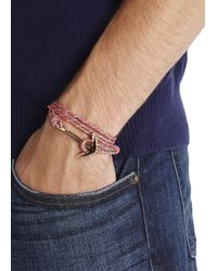 Miansai - Pink Coral Double Wrap Rope Anchor Bracelet - Lyst