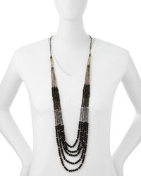Nakamol - Black Beaded Multi-strand Tiered Necklace - Lyst