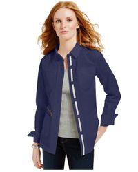 Tommy Hilfiger | Blue Utility Shirt Jacket | Lyst