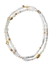 Lydell NYC | White Single-strand Beaded Necklace | Lyst