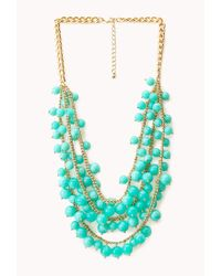 Forever 21 - Blue Boho Beauty Beaded Necklace - Lyst