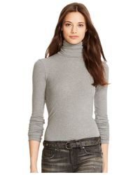 Polo Ralph Lauren | Gray Ribbed Turtleneck | Lyst