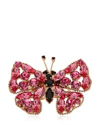 Halaby | Pink Butterfly Ring | Lyst
