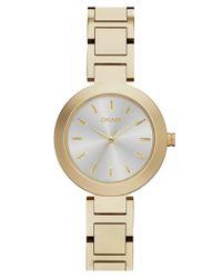 DKNY | Metallic 'stanhope' Round Bracelet Watch | Lyst