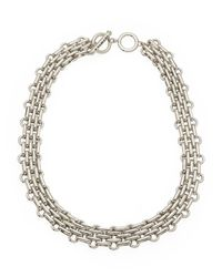 T Tahari | Metallic Silver-Tone Intertwined Necklace | Lyst