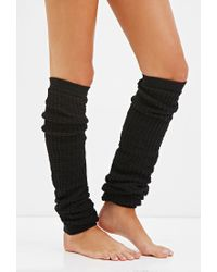 Forever 21 - Black Waffle Knit Leg Warmers - Lyst