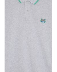 KENZO - Gray Pique Polo T-shirt - Lyst