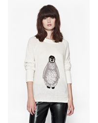 French Connection | White Penguin Knitted Jumper | Lyst