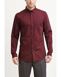 Forever 21 | Red Cotton-blend Pocket Shirt for Men | Lyst