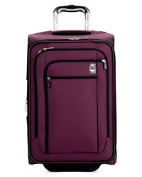 """Delsey - Purple Closeout! Helium Sky 21"""" Rolling Carry On Expandable Suitcase (macy's Exclusive Color) for Men - Lyst"""