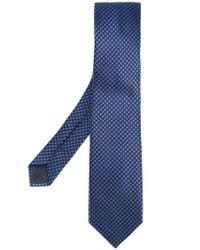 BOSS - Blue Woven Tie for Men - Lyst