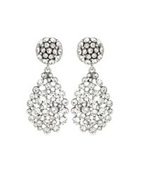 Oscar de la Renta - Metallic Crystal-embellished Clip-on Earrings - Lyst