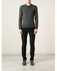 Gucci - Black Textured Straight Leg Trouser for Men - Lyst