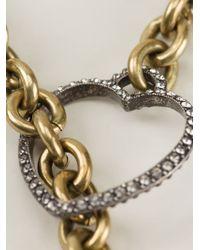 Lanvin Metallic Heart Pendant Necklace