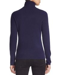 Lord & Taylor | Blue Petite Cashmere Turtleneck Sweater | Lyst