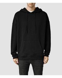 AllSaints - Black Vertigo Hoody for Men - Lyst