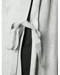 MM6 by Maison Martin Margiela | Gray Hooded Oversized Sweater | Lyst