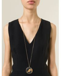 Givenchy | Metallic Marble Pendant Necklace | Lyst