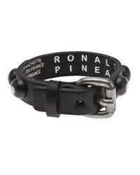 Ronald Pineau | Black 'Nano' Bracelet | Lyst