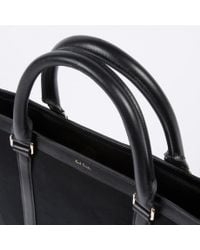 Paul Smith | Men's Black Canvas Flat Travel Tote Bag | Lyst