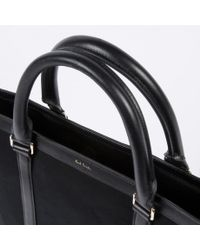 Paul Smith - Men's Black Canvas Flat Travel Tote Bag - Lyst