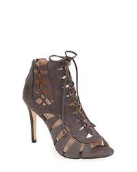 Klub Nico | Gray 'mona' Lace-up Sandal | Lyst