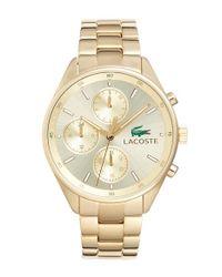 Lacoste - Metallic 'philadelphia' Multifunction Bracelet Watch - Lyst