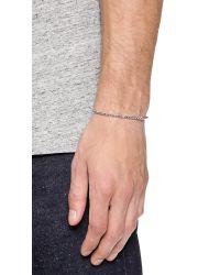Eddie Borgo - Metallic Thin Pyramid Cuff for Men - Lyst