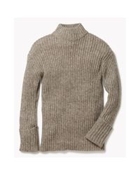 Theory - Gray Diantha Sweater In Caresse - Lyst