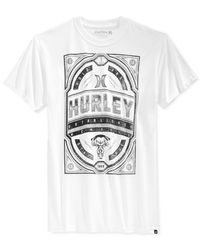 Hurley | White Bender T-shirt for Men | Lyst