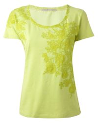 Ermanno Scervino - Green Floral Embroidered Top - Lyst