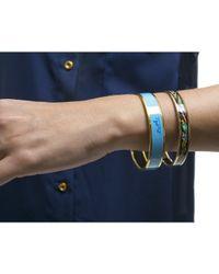 Hermès | Blue Pre-owned: Enamel Logos Wide Pm Bracelet | Lyst
