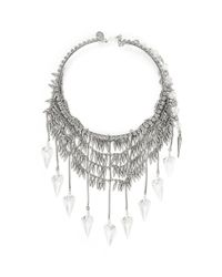 Erickson Beamon | The Shining Crystals And Metallic Dangling Spikes Choker | Lyst