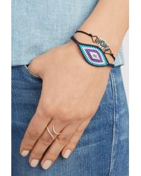 Diane Kordas - Multicolor Evil Eye Woven Silk, Diamond And Sapphire Bracelet - Lyst