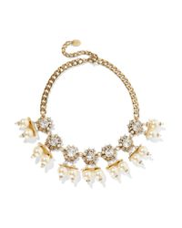 Erickson Beamon - Metallic Future Shock Gold-plated, Faux Pearl And Swarovski Crystal Necklace - Lyst
