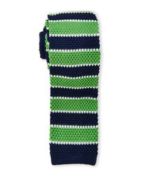 Burma Bibas | Blue Multi Stripe Textured Knit Tie for Men | Lyst