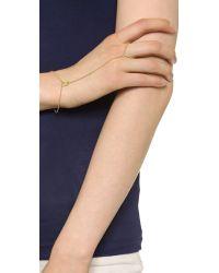 Jennifer Zeuner | Metallic Gold Vermeil Link Bracelet | Lyst