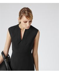 Reiss - Black Bianca Seam Detail Dress - Lyst