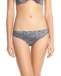 Calvin Klein | Gray 'invisibles' Print Thong | Lyst