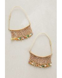 Anthropologie | Metallic Luana Fringed Hoops | Lyst