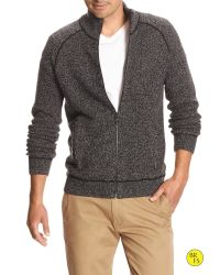 Banana Republic - Black Factory Mock-neck Sweater Jacket for Men - Lyst