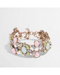 J.Crew - Multicolor Factory Pastel Cluster Bracelet - Lyst