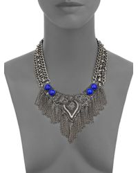 DANNIJO | Blue Isadora Statement Necklace | Lyst