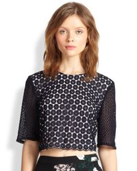 A.L.C. - Blue Fremont Crocheted Cropped Top - Lyst