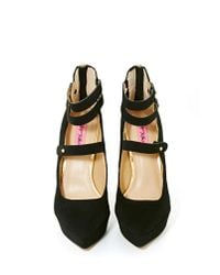 Nasty Gal - Black Betsey Johnson Pennie Platform Heels - Lyst